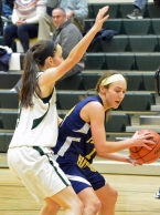 Villa Walsh's Kiley Molnor, left, guards Carly Klimek of Pequannock.