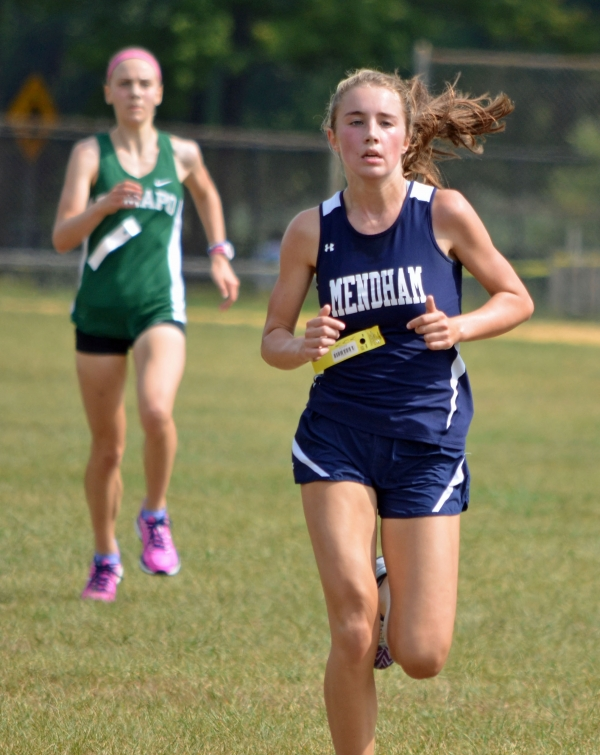 Lucy Jeffs of Mendham was second in the Girls Fastest 4 Race at the Roxbury Invitational on Saturday, Sept. 10, 2016.