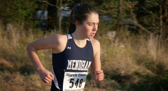 Mackenzie Barry is the second girl to win three Morris County Cross Country titles.
