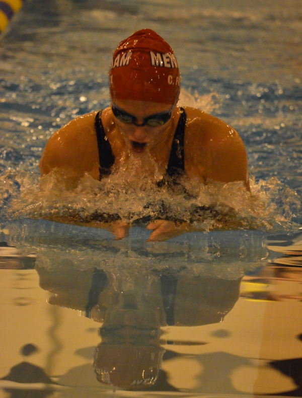 Celia Frick of Mendham took first in the 200 IM and the breaststroke.