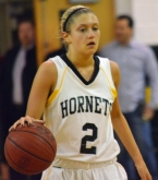 Alexa Gammo, above, was one of three players in double figures for Hanover Park.