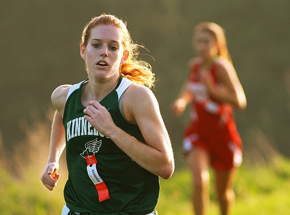 Kinnelon's Johanna Goergen on her way to a first-place finish.