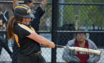 Jess Miller belted two home runs and singled for Hanover Park in its 21-1 win over Parsippany in MCT semifinal action on Saturday, May 5.