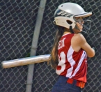Sophia Leon, pictured above, doubled in two runs for Par-Troy East in the bottom of the fourth inning against Pequannock. Jenna Devens, shown in the slideshow, gave up only one hit.