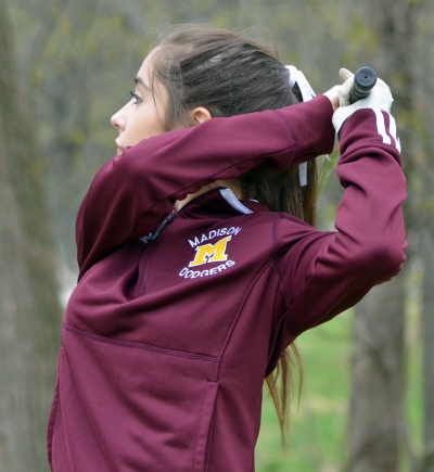 Madison prevailed 231-235 over Morristown in a girls golf match on Thursday, April 20.