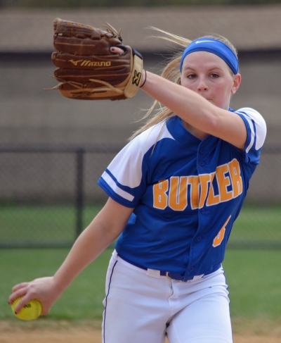 Butler ace Larissa Spellman tossed a one-hitter in the North Jersey Section 1, Group I final.
