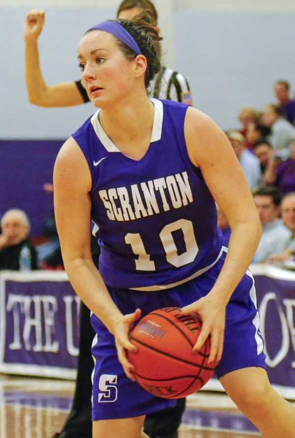 Montville native Katie O'Reilly has been a key player off the bench for undefeated University of Scranton.