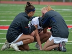 Mendham players console one another after falling to Morristown in a sectional semifinal.