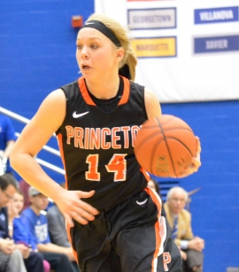 Amanda Berntsen of Chatham started for Princeton in its WNIT second-round game at Seton Hall University.