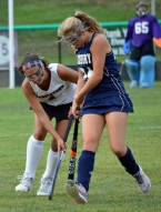 Mackenzie Sundin, above, scored Morristown's second goal. Devon Colquhoun, in slideshow, has been a force in the Colonials' attack.