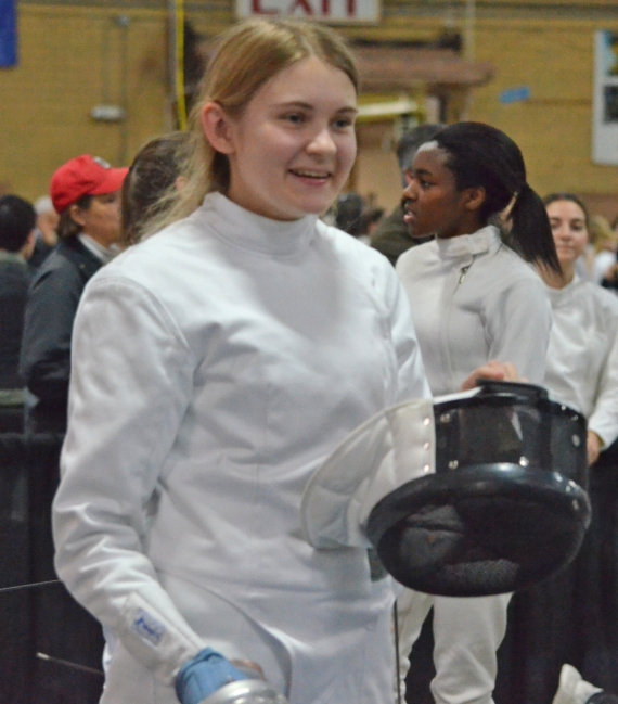 Nichole Morley of Parsippany has made great strides in fencing over the last two years. Morley has two 15-inch titanium rods in her back.