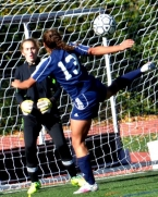 Randolph's goalie, Rachel Fennell, was injured and replaced by freshman Ashley Kapp.