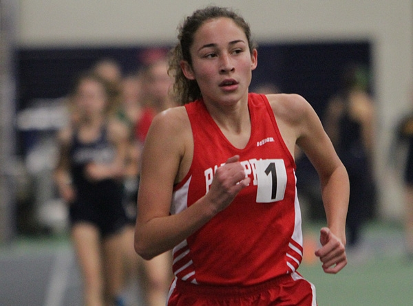 Parsippany's Samantha Pignatelli leads the pack in the 3,200 at the Jack O'Leary Lid Lifter.