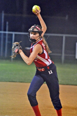 Tori Freire struck out eight for Par-Troy East over the first three innings.