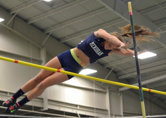 Julia Mszanski won the pole vault at the Morris County Indoor Track Championships.
