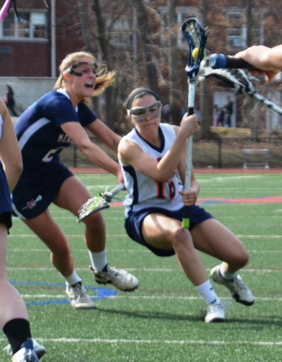 Alli LaBeau and the Lakers were in control against Mendham, coming away with a 12-5 victory.