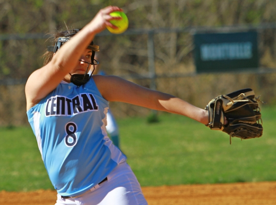 Jamie Fesinstine, a junior, has struck out 27 batters in her first two games this season.