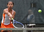 Kim Chan, pictured, and Daniela Rosen triumphed at second singles for Mountain Lakes.