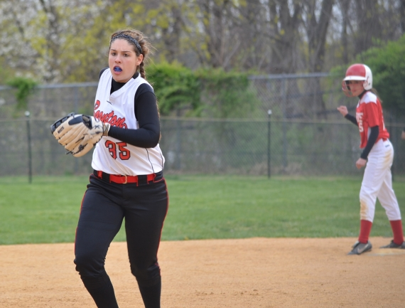 Boonton pitcher Kylie Morgan allowed three hits and struck out six against Morris Hills.
