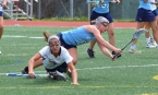 Players from West Morris and Mendham collide while in pursuit of the ball.