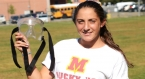 Three-sport athlete Ari Goret must wear a specially made mask after breaking her nose six times.