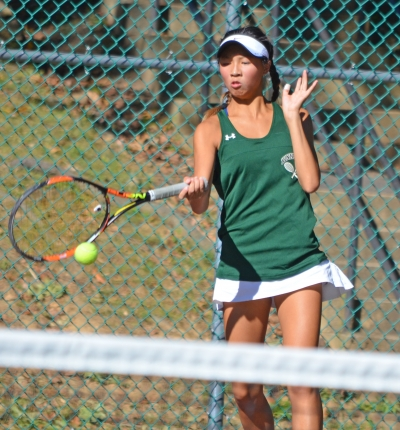 Kinnelon sophomore Britany Lau defeated Scarlett Blydenburgh to garner her first MCT singles title.