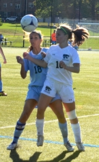 Kendall Ballotti's corner kick was the gamewinner for the Wolfpack.