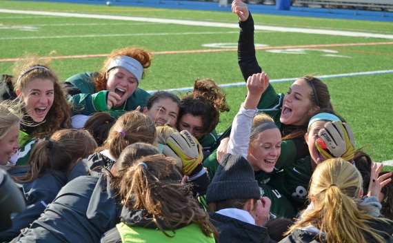 Kinnelon celebrates its Group I championship,