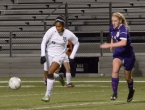Morris Catholic's Stella Johnson, left, is in control of the ball.