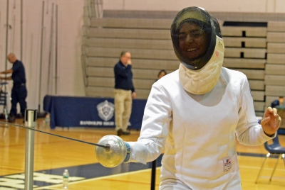 Chloe Chinnadurai of Morris Hills took the individual epee title at the Morris County Fencing Championships.
