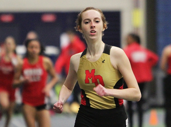 Marissa Karl of Mount Olive won the 600-meter run.