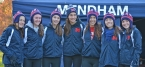 Mendham's runners pose after the Group III race at Holmdel.