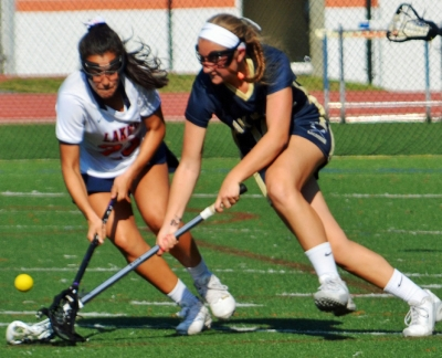 Oak Knoll broke open a close game by scoring seven of the next eight goals.