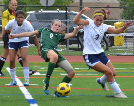 The action was heated when Kinnelon and Pequannock clashed on Thursday, Sept. 6.