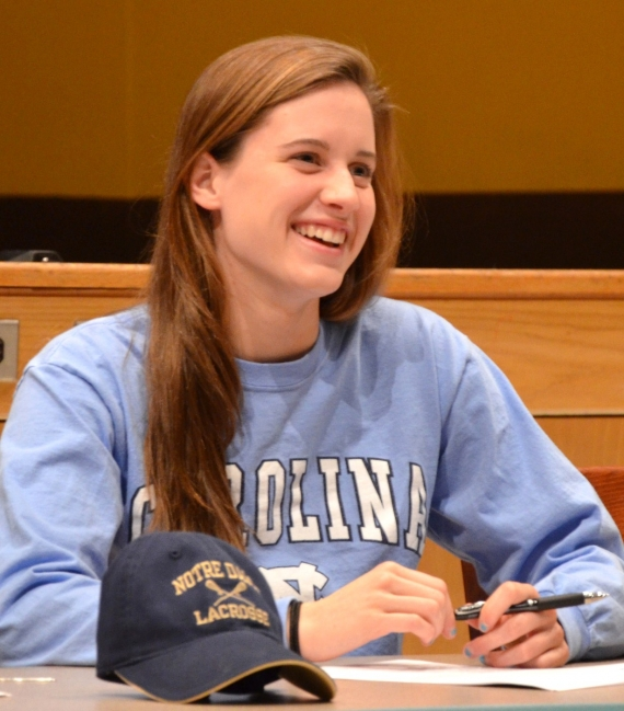 Standout swimmer Abby Fisher will attend the University of North Carolina.