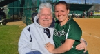 Sammie Booth, pictured with her father, Steve, had 148 career hits for Montville High School.