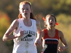 Megan Curham of Villa Walsh finished first in the NJAC Small Schools Division race. Mountain Lakes' Colette Richter was second.