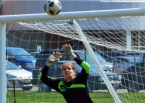 Kristina Qualben turned in a stellar effort in goal for Madison versus Pequannock.