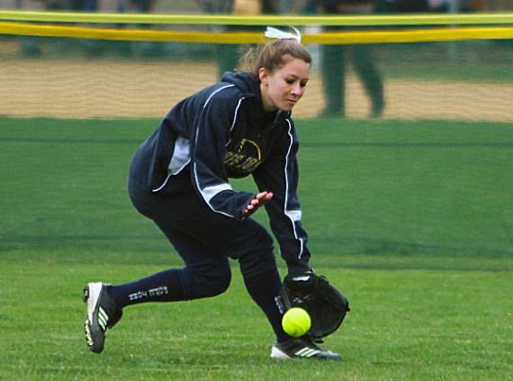 Pope John senior Ashley May returns to center field.