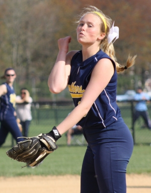 Pequannock's Bridget Carr pitched a four-hitter against Butler.