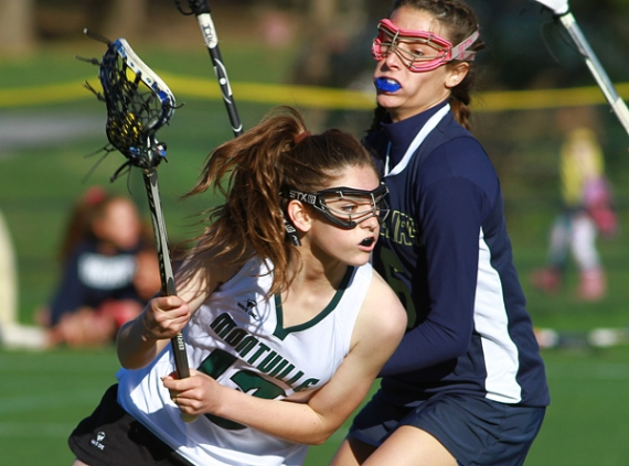Abby Haimson of Montville looks to take a shot on goal.