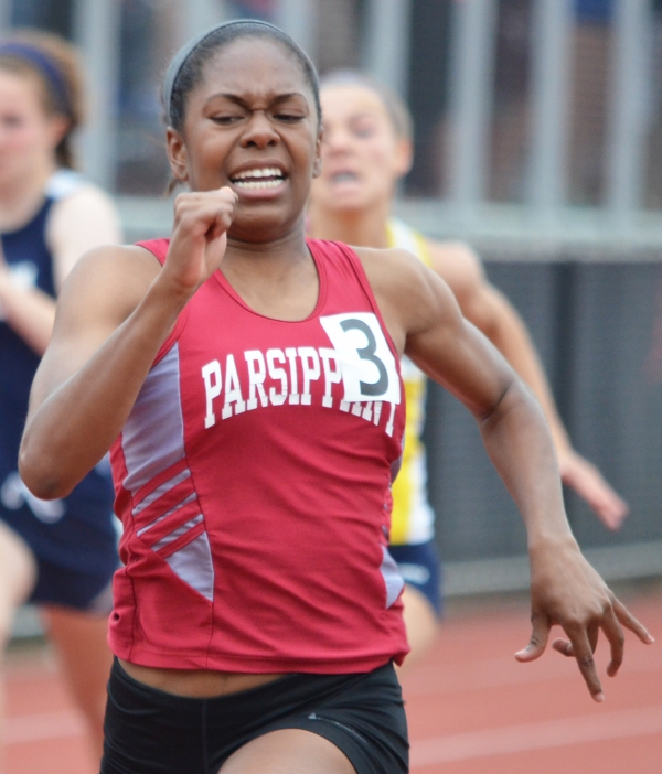 Parsippany's Bria Saunders won the 100 and 200-meter dashes at the Morris County Championships.