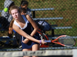 Katie Gutknecht, Mendham's second singles player.