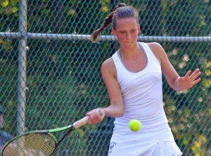 Lena Parsch of Chatham claimed the second doubles title at the 2017 Morris County Girls Tennis Tournament.