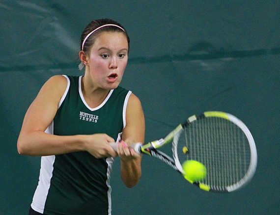 Montville's Kirstin Godau, the top seed at first singles, already has won Morris County Tennis Tournament championships at second and third singles.