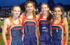 Therese Olshanski, Hailey Sheppell, Kyra Velock and Izzi Gengaro propelled Mountain Lakes to victory in the distance medley relay.