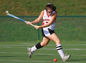 Parsippany's Krystal Kaiser prepares to send the ball.