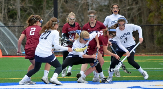Chatham played excellent defense in the opening half versus Summit on Wednesday, April 8.