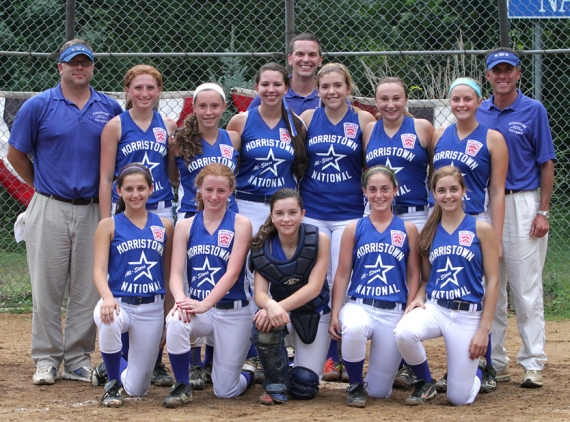Morristown National poses for a picture after capturing the Section 1 Junior League Softball Title.