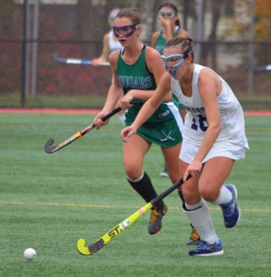 Chatham's Alexa Lee, right, scored the decisive goal in Chatham's state tournament win over Colts Neck.